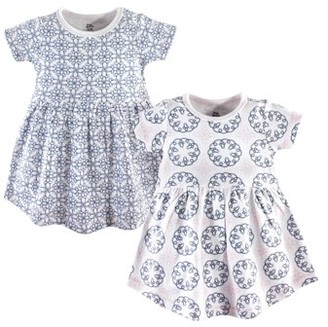 Yoga Sprout Baby Girl Short Sleeve Dresses, 2-pack
