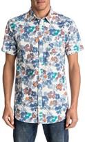 Quiksilver Men's Only Flowers Elongated Print Woven Shirt