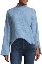 Derek Lam 10 Crosby Mock-Neck Wool-Blend Long-Sleeve Sweater