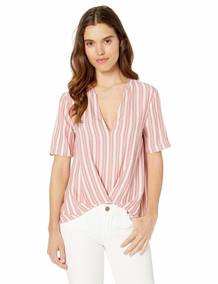 BCBGeneration Women's Striped Pleated Front Top