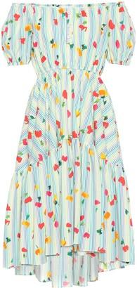 Caroline Constas Striped stretch cotton dress