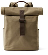 Frank & Oak Canvas Roll-Top Backpack in Military