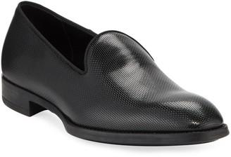 Giorgio Armani Men's Pebble Textured Formal Loafer