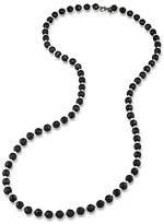 Carolee Soho House Faux-Pearl & Hematite Rope Necklace