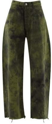 Marques Almeida Marques'almeida - Tie-dye Wide-leg Jeans - Womens - Khaki