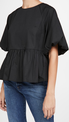 ENGLISH FACTORY Short Balloon Sleeve Top