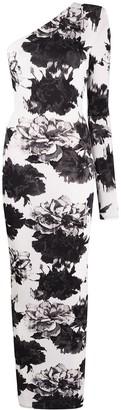Alexandre Vauthier Floral Print Jersey Dress