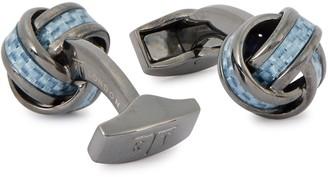 Tateossian Gunmetal Carbon Fibre Cufflinks