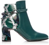 Thumbnail for your product : Moda In Pelle Kannes Teal Leather
