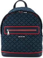 Love Moschino front zip backpack - women - polyurethane - One Size