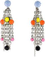Tom Binns Neon Fringe Drop Earrings