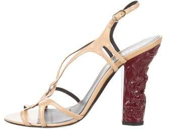 Chanel Crossover Slingback Sandals