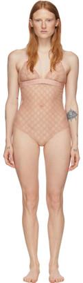 Gucci Pink Lace Bodysuit