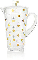 Kate Spade Raise A Glass Metallic-Dotted Cold-Beverage Pitcher