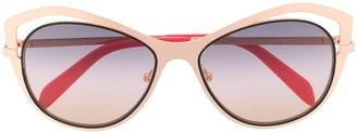 Emilio Pucci butterfly cut-out rim sunglasses