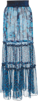 Anna Sui Chiffon Maxi Skirt