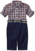 Ralph Lauren Plaid Poplin Shirt & Chino Pants Set, Baby Boys (0-24 months)