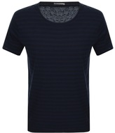 Nudie Jeans Ove Crew Neck Striped T Shirt Blue