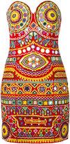 Moschino mirror embroidered mini dress
