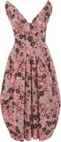 Zac Posen Violet Jacquard Cloque Dress