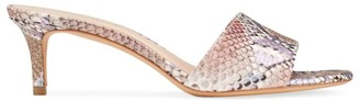 Kate Spade Savvi Snakeskin-Embossed Leather Mules