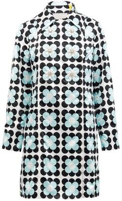 8 Moncler Richard Quinn - Shirley Floral Coated Cotton-canvas Raincoat - Blue White