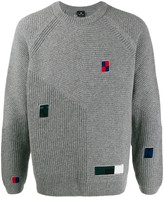 PS Paul Smith multiple-patch knit sweater