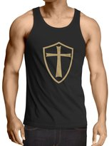 "lepni.me Vest ""Knights Templar - Templar shield Christian knight order"" Christmas, Birthday, Valentine Gift For Husbands, Boyfriends, Dads and Friends ( Black Green)"