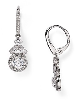 Nadri Swarovski Crystal Drop Earrings