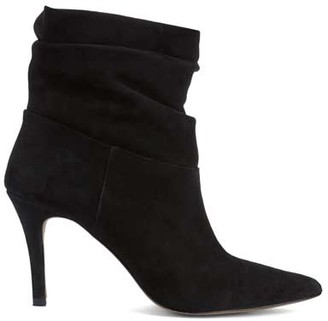 Mint Velvet Anya Black Suede Slouchy Boots