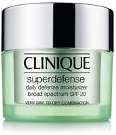 Clinique Superdefense Daily Defense Moisturizer Broad Spectrum SPF 20 Skin Type I and II