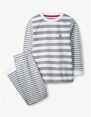 The Little White Company Giraffe striped cotton-jersey pyjamas 1-12 years