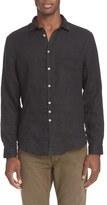 John Varvatos Men's Collection Slim Fit Linen Sport Shirt