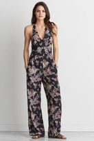 American Eagle Outfitters AE Scallop Neck Halter Jumpsuit