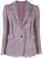 Etro tweed blazer - women - Silk/Cotton/Linen/Flax/Acetate - 42