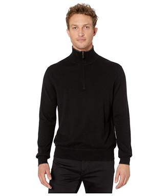 Polo Ralph Lauren Washable Cashmere 1/4 Zip Pullover (Polo Black) Men's Clothing