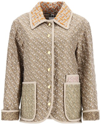 Burberry Monogram Print Quilted Jacket