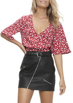 MinkPink Roses Are Red Ditty Wrap Crop