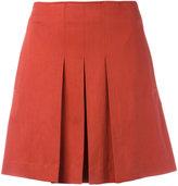 A.P.C. pleated mini skirt - women - Cotton/Spandex/Elastane/Lyocell - 34