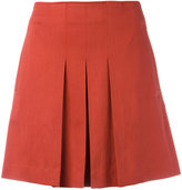 A.P.C. pleated mini skirt - women - Cotton/Spandex/Elastane/Lyocell - 38
