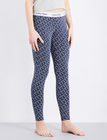 Calvin Klein Geometric-print skinny stretch-cotton pyjama bottoms