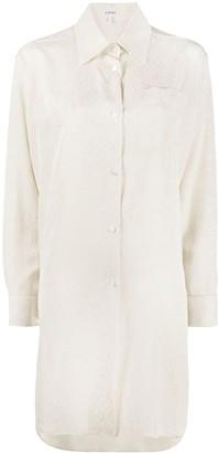 Loewe Logo-Print Silk Shirt