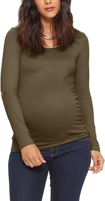 Stowaway Collection Open Elbow Maternity Top