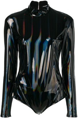 Balmain Hologram Latex Bodysuit