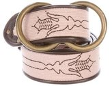 Bottega Veneta Leather-Trimmed Embroidered Belt