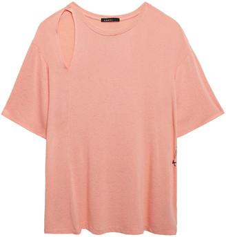 Koral Cutout Melange Stretch-jersey T-shirt