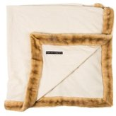 Ralph Lauren Fur-Trimmed Throw Blanket