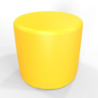 "Circle 13.5"" H Firm Ottoman Tenjam Color: Yellow"