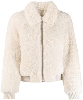 Isabel Marant shearling bomber jacket