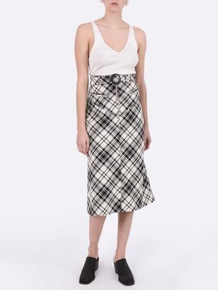 Ellery Check Print Matango Skirt